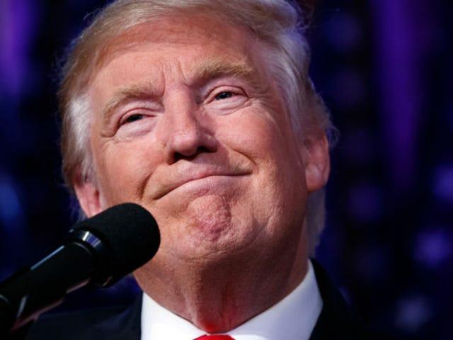 Præsident Donald Trump: Er du meget glad for at være victoria?