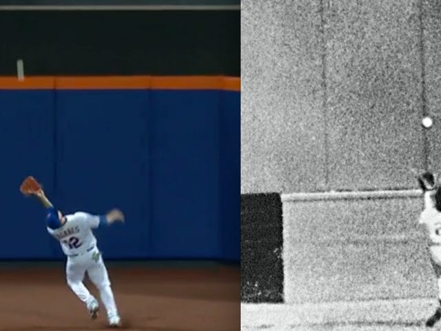 Juan Lagares Did A Pretty Convincing Willie Mays Impression