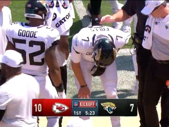 Nick pierde el juego después de ser lastimado en Touchdown Pass [Actualización: clavícula fracturada]