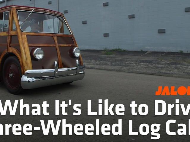 Esta cabana de três rodas de um carro deveria estar em toda parte