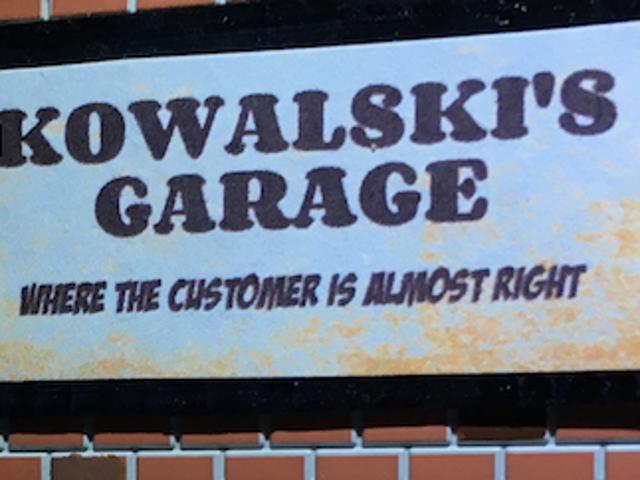 Welcome to Kowalski's Garage!