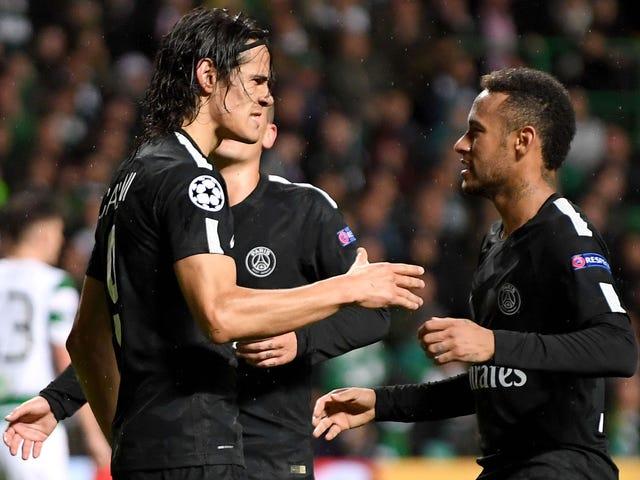 Neymar ignorerar Edinson Cavani under målfest, men jag är säker på att det är helt fint