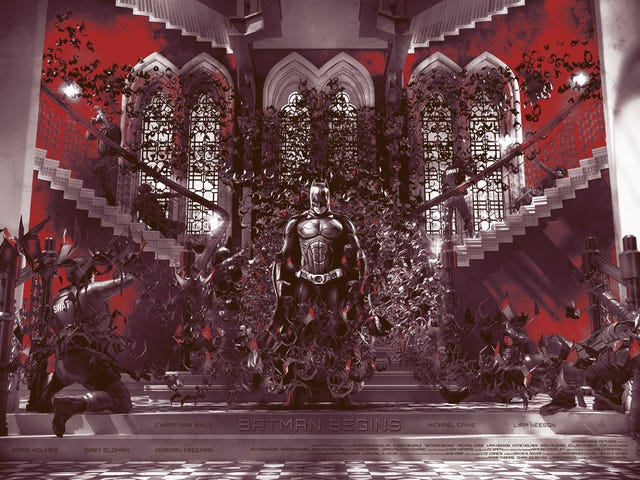 The Best Scene in <i>Batman Begins</i> Comes to Life in an Impressive Group Art Show