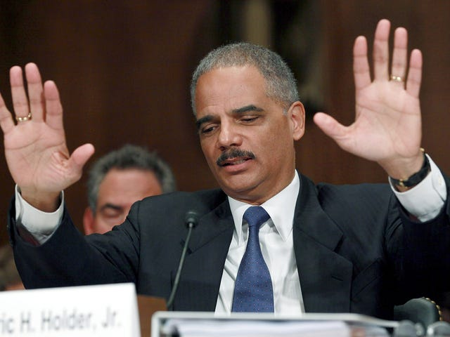 Eric Holder Wants All the Smoke: When They Go Low, We Kick Them