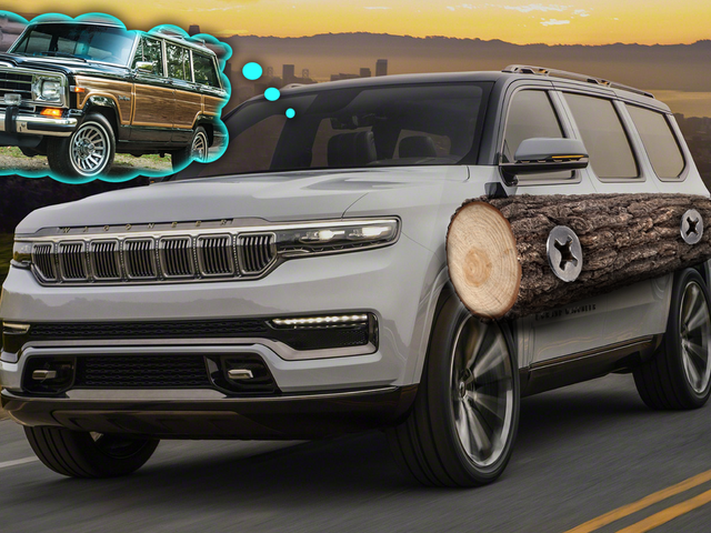 Here's How The New Jeep Grand Wagoneer Would Look With Wood Trim
