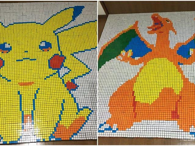 Pokémon Art Made From Rubik's Cubes