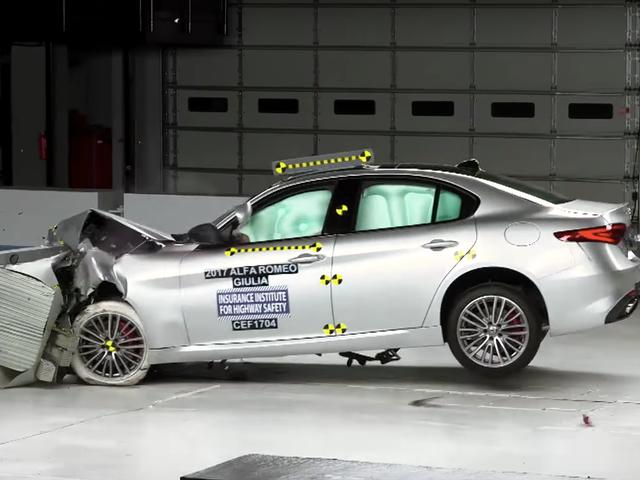 Here's How An Alfa Romeo Giulia Performs In A Crash Test