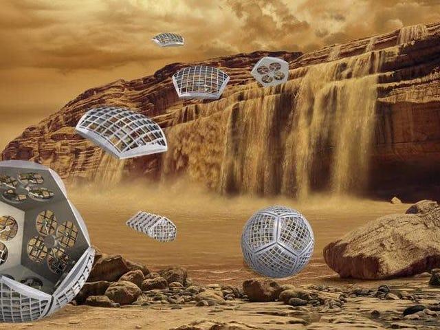 酷炫的NASA概念设想一个变形机器人探索土星的月亮泰坦