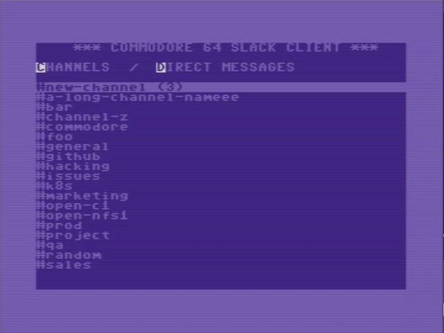 Esse cara construiu um cliente frouxo para o Commodore 64