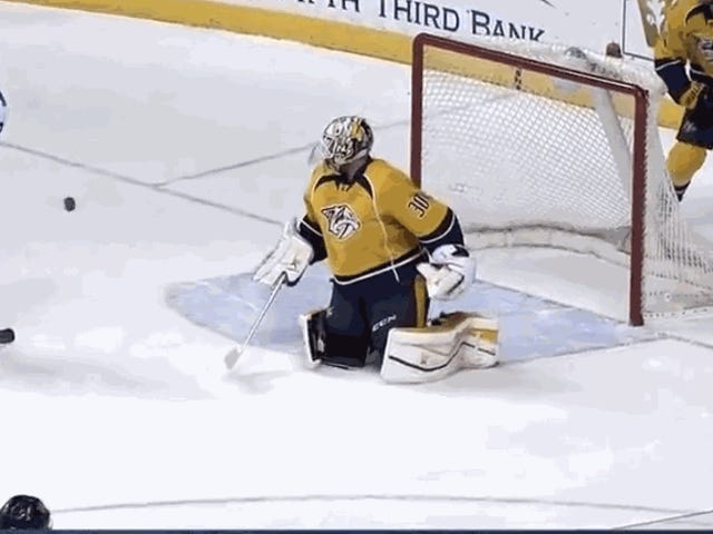 Carter Hutton Preserves Win With Save Of The Year Contender
