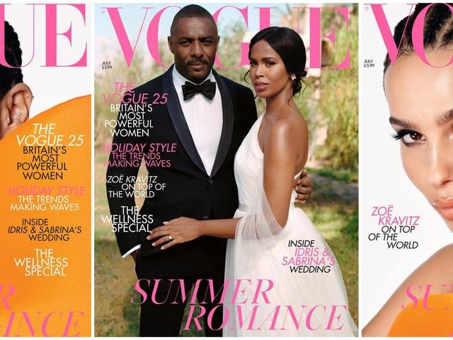 Summer Lovin ': Britisk Vogue bliver ægteskabssindet med Idris og Sabrina Elba og Brud-til-Be Zoë Kravitz