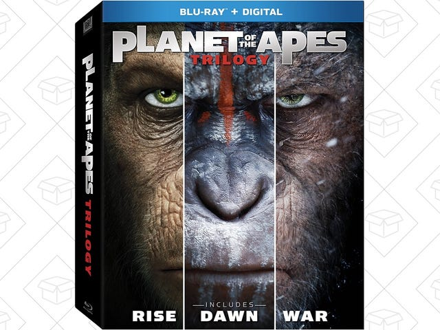Add the Complete Planet of the Apes Trilogy to Your Blu-ray Library For $18