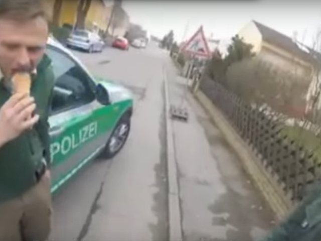 Watch The Most Hilariously Chill Bavarian Cops Catch A Fleeing Motorcyclist