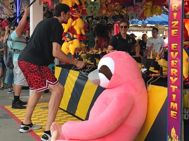 Boban Marjanovic Enjoys State Fair Of Texas