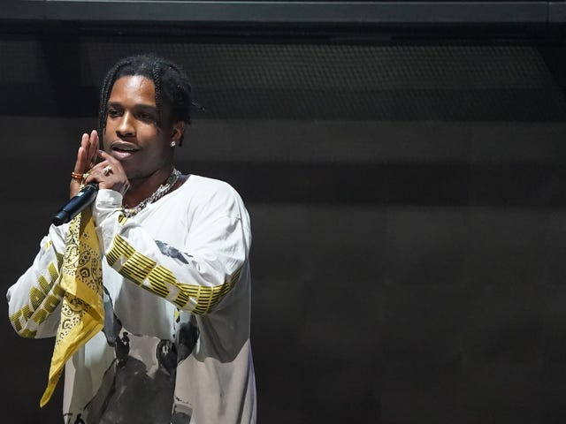 Fresh Outta Swedish Jail, A $ AP Rocky Hits Up Kanye West's Sunday Service