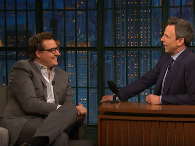 Chris Hayes tells Seth Meyers how Tucker Carlson just gave him the best day of his life