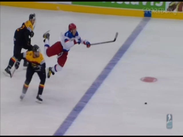 Alex Ovechkin Injures Leg At World Championships, Carried Off Of Ice