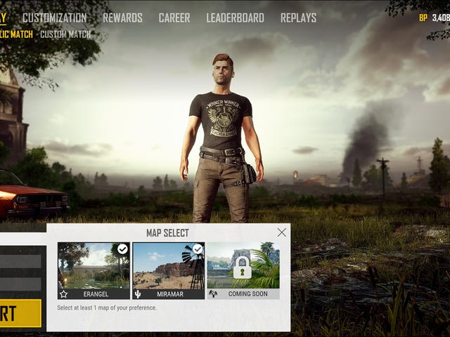 PUBG Is Getting Map Selection