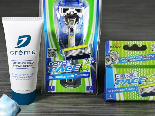 Try Out Dorco's Pace 6+ and Shaving Cream For Just $11