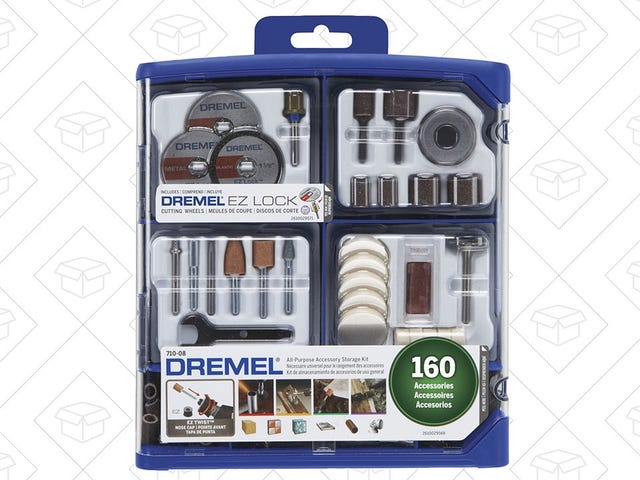 Accessorize Your Dremel With This 160-Piece Kit, Just $18 Today