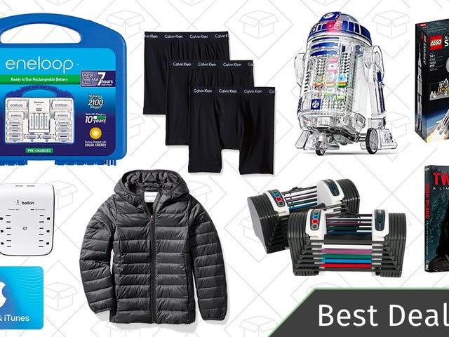 Wednesday's Best Deals: Eneloop Batteries, Calvin Klein Gold Box, Puffer Jackets, and More