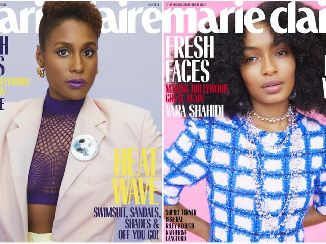 Fresh Faces: Issa Rae and Yara Shahidi Cover Marie Claire's May Issue