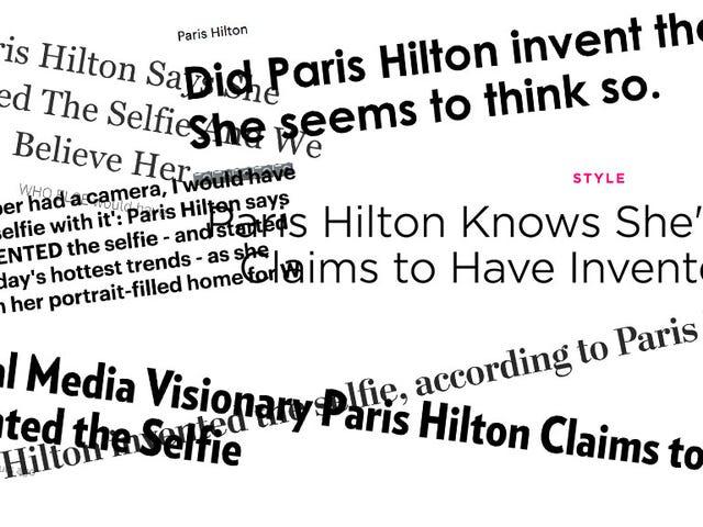 Paris Hilton no afirmó exactamente haber inventado el Selfie