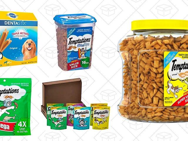 इस अमेज़िंग ट्रीट गोल्ड बॉक्स में अपने पालतू जानवरों के लिए उपहार ढूंढें