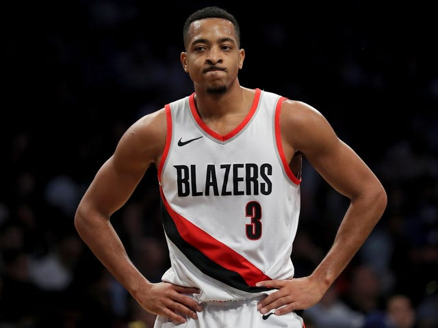 "C.J. McCollum On The Trail Blazers' Playoff Woes: ""Im Trying Jennifer"""