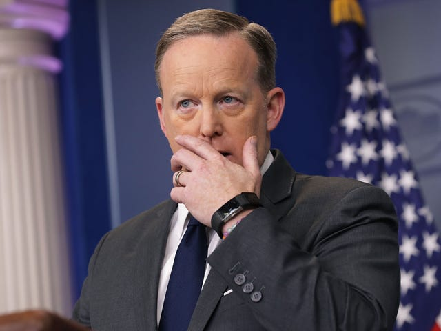 Sean 'Spicy Facts' Spicer Emerges Long Enough to Mess Up a Tweet and Then Goes Back Into Hiding