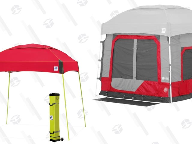 These Discounted Pop-Up Canopies Can Transform Into Full Tents