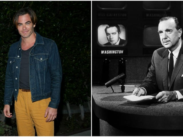 Chris Pine to play that noted news heartthrob, Walter Cronkite
