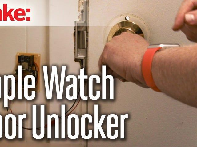 Avaa ovi, jossa on RFduino ja Apple Watch