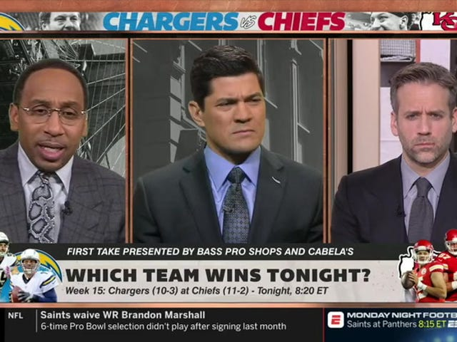 I Don't Think Stephen A. Smith Watches Much Football