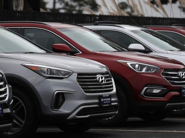 Hyundai n'a pas cessé de fabriquer des voitures et maintenant les ports américains en regorgent