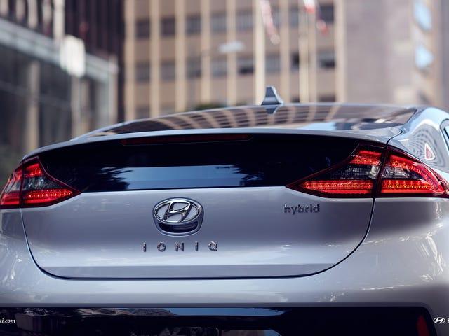 Så min første Hyundai Ioniq i naturen i går