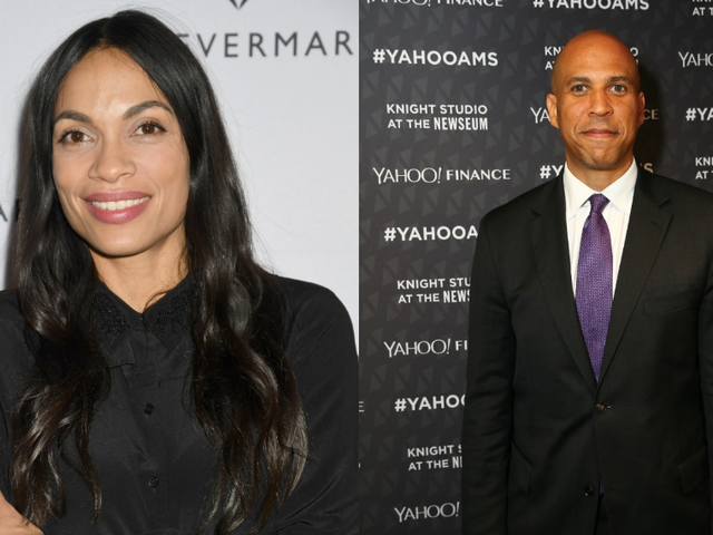 Cory Booker and Rosario Dawson Have Probably Been Dating for a Month