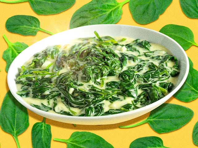 Here's a classic no-nonsense creamed spinach, the way it was meant to be