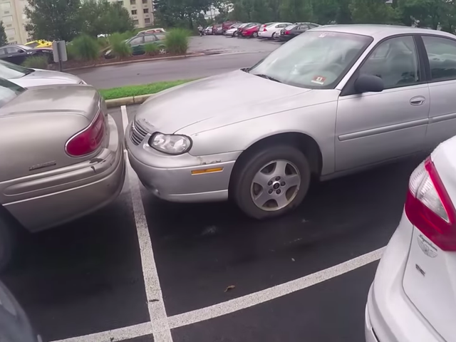 Every American Parking Lot Has At Least One Terrifyingly Unsafe Car
