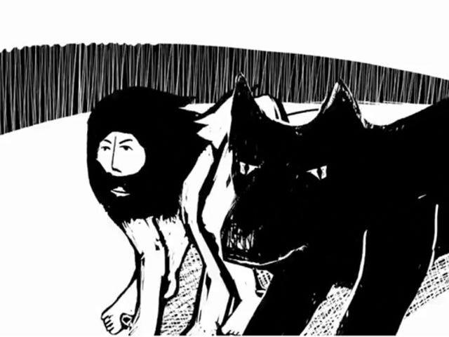 男 - オオカミはこの豪華にアニメ化された物語の中で彼の人間の側面を再発見します