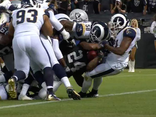 Marshawn Lynch Puts Both Teams On His Back For The First Touchdown Of The Gruden Era