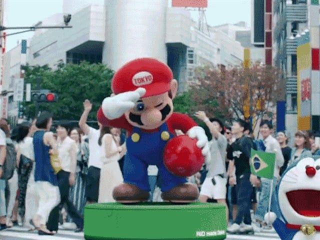 Mario Stars In Olympics Closing Ceremony