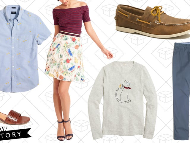 Get an Extra 30% Off J.Crew Factory's Massive Clearance Section.