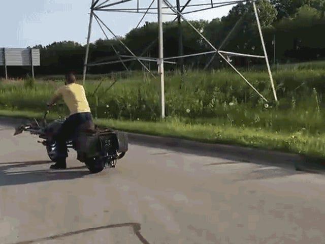 Sí, esta es una motocicleta de <i>Star Wars</i> Speeder Bike que funciona