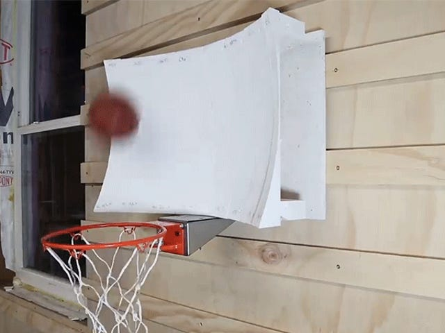 Guy Uses Physics and Computer Simulations to Design a Never-Miss Basketball Hoop