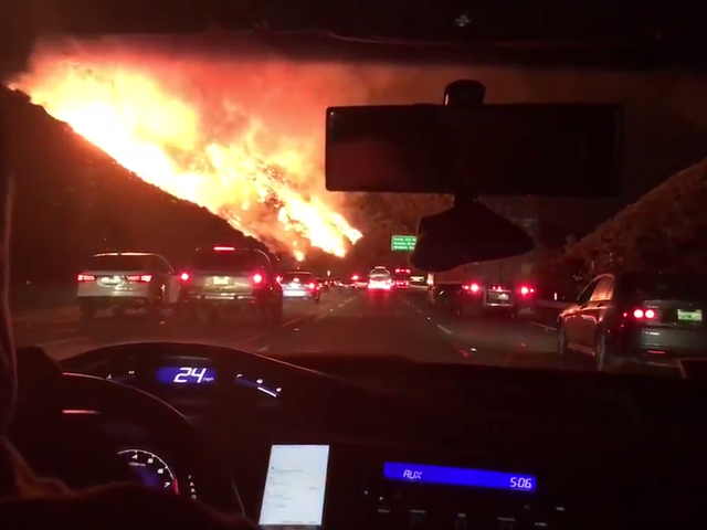 Los Angeles Wildfire Brings A Whole New Meaning To 'Commute Hell'