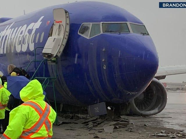 Rain Blamed for Plane Sliding off Runway at Hollywood Burbank Airport