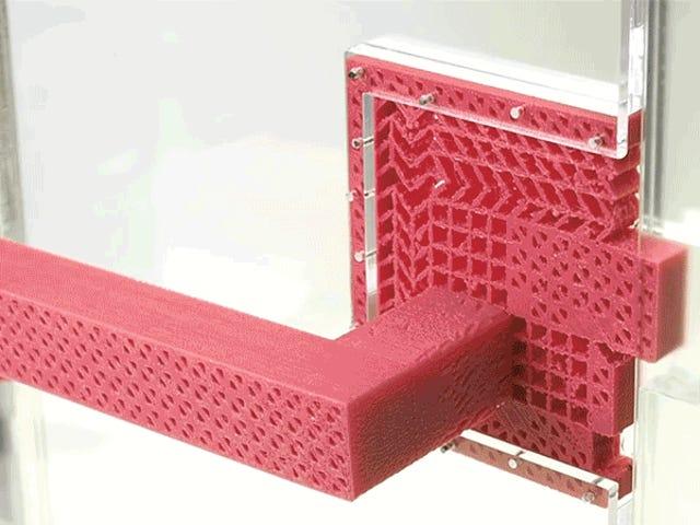 Denne enkle 3D-trykte dørhåndtaket fungerer uten noen bevegelige deler