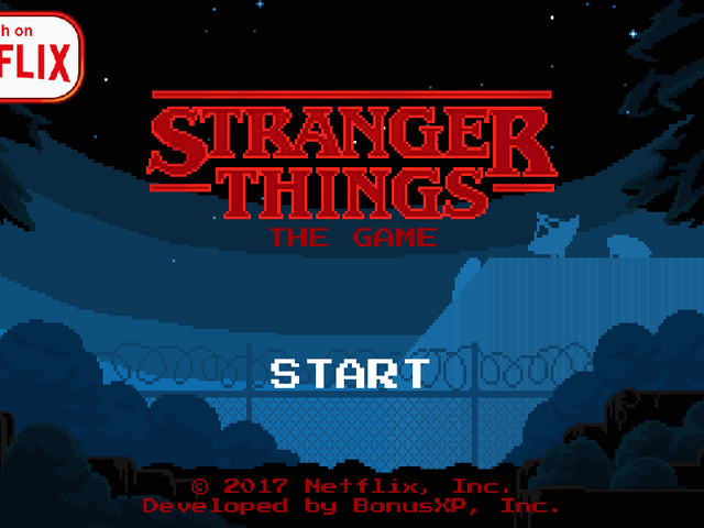 The Stranger Things mobile game is rad