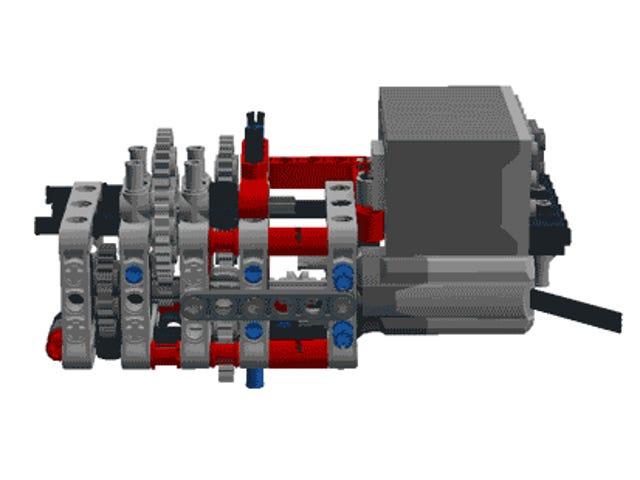 यह लेगो-मोडेड ग्लू गन एक हैंडहेल्ड 3 डी प्रिंटर है